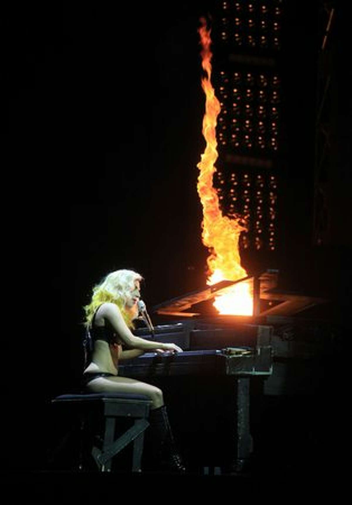Lady Gaga performs her song Speechless during a show at the Tacoma Dome on Saturday August 21, 2010.