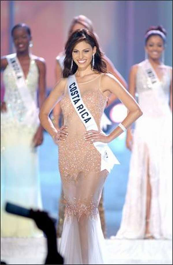 Nancy Soto, Miss Costa Rica, poses after being named one of the 10 finalists. Photo: Miss Universe L.P., LLLP