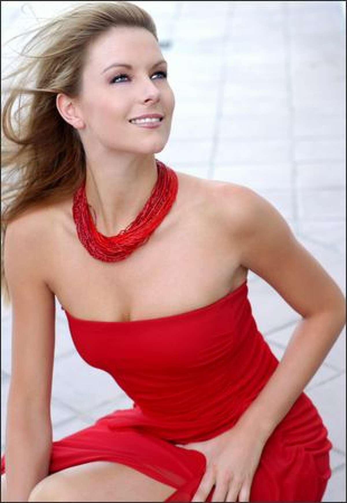 Jennifer Hawkins poses for New York fashion photographer Fadil Berisha on May 14.