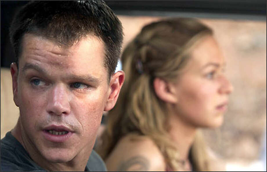 Jason Bourne (Matt Damon) and Marie (Franka Potente) find themselves on the run once more. Photo: Universal Studios