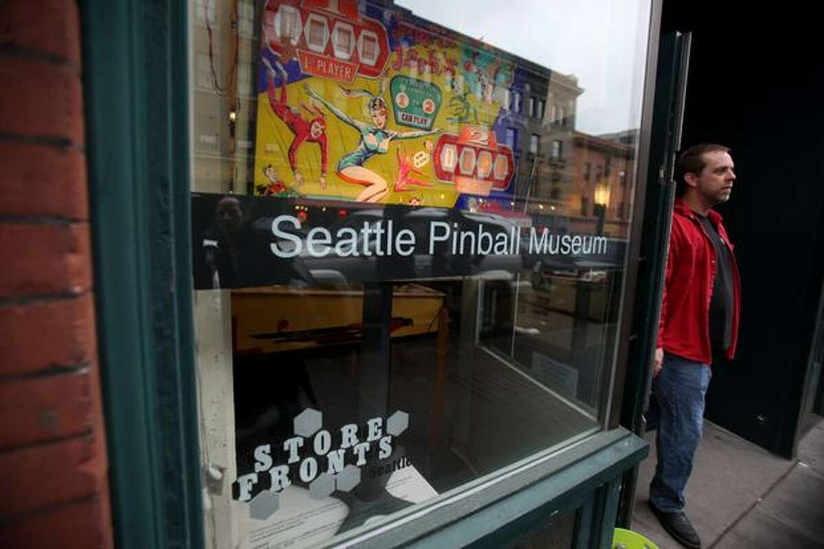 The exterior of the Seattle Pinball Museum in Seattle's International District is shown on Saturday, February 5, 2011.