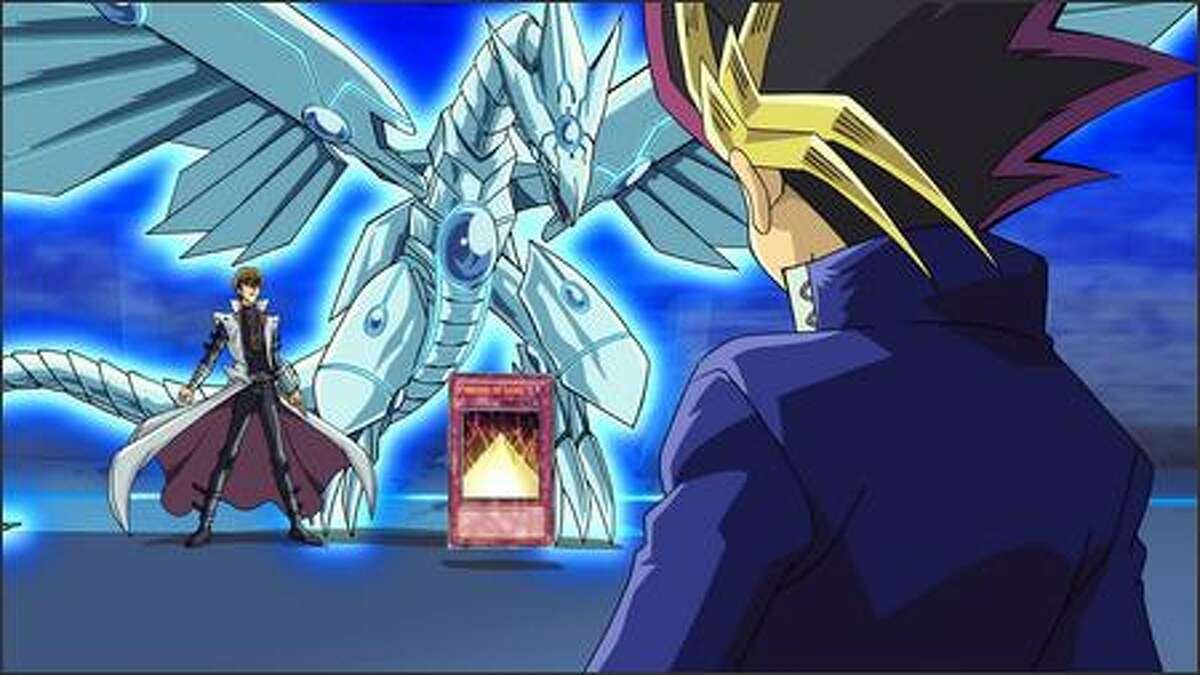Kaiba, Blue-Eyes Shining Dragon and Yugi face off. The film takes place shortly after the completion of the Battle City Tournament, a long and challenging competition Yugi entered in Season Two of the TV series to learn about his enigmatic past. The end of Season Three marks the conclusion of the Tournament, and this is where the film's story begins.