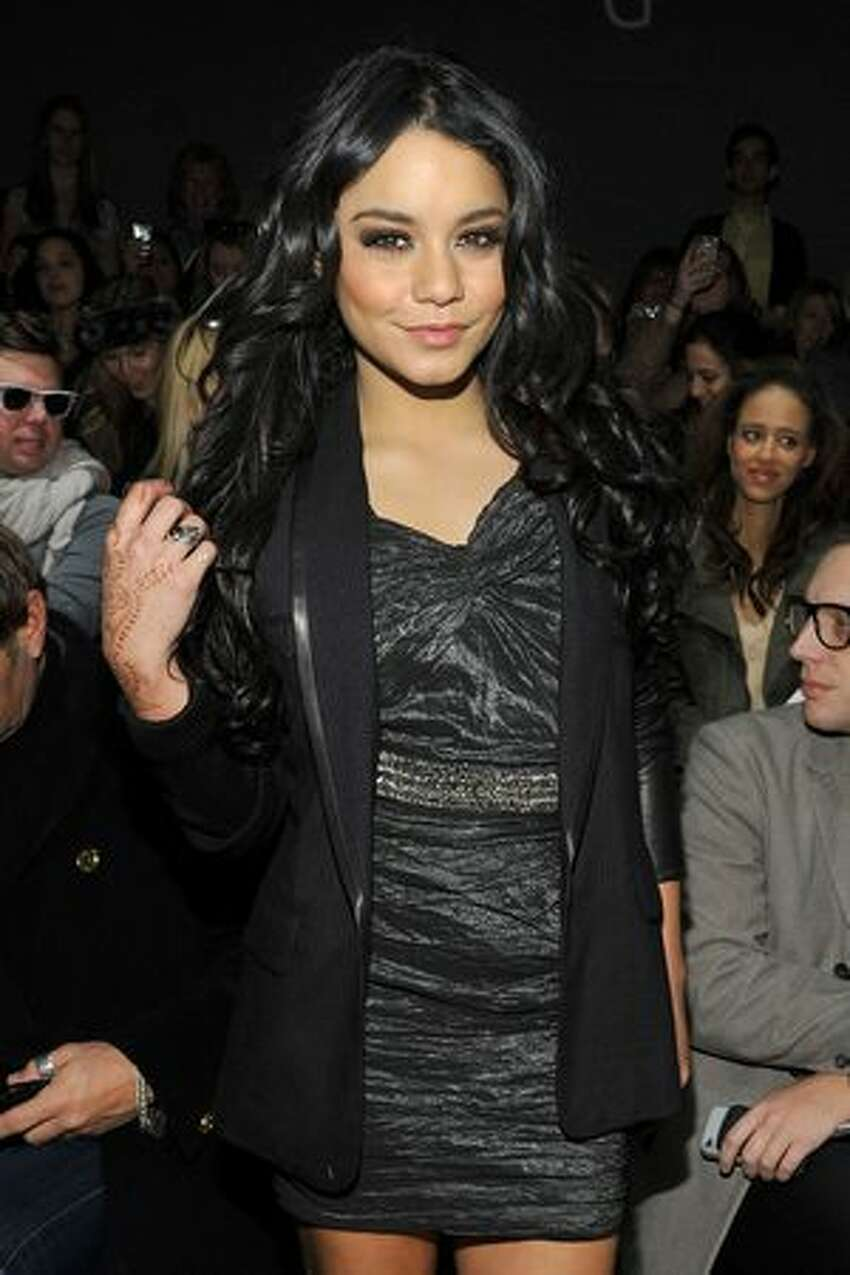 Actress Vanessa Hudgens attends the Yigal Azrouel Fall 2011 fashion show during Mercedes-Benz Fashion Week at The Studio at Lincoln Center in New York City.