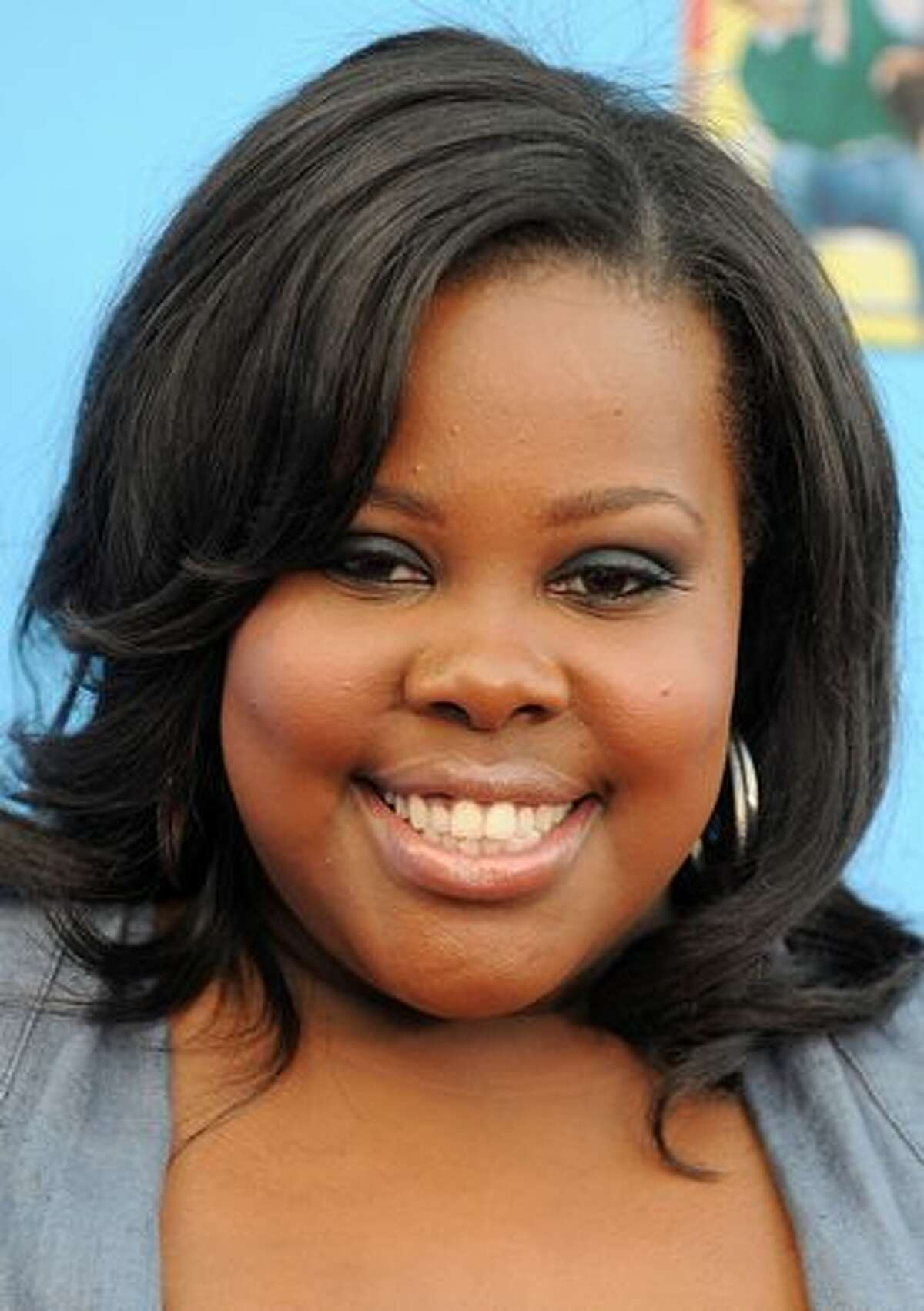 Actress Amber Riley arrives.