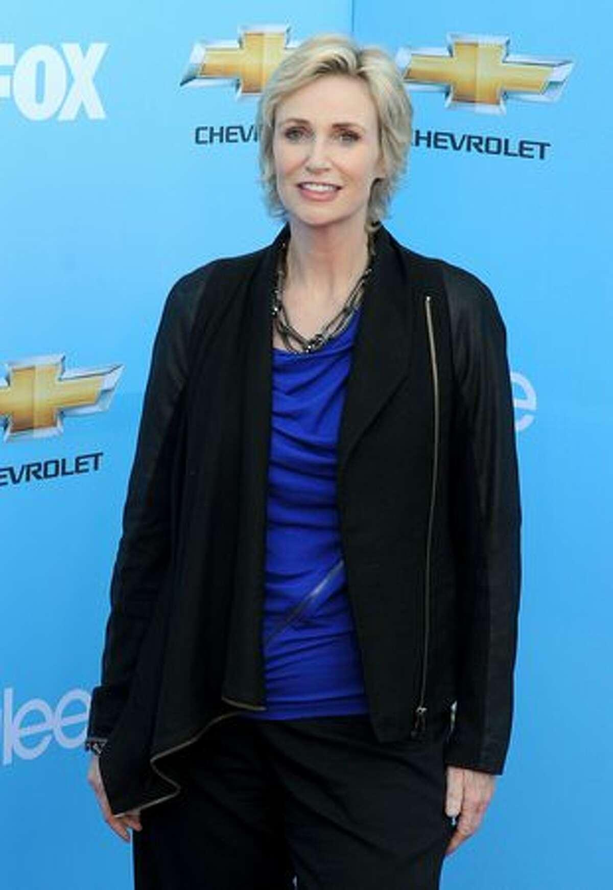 Actress Jane Lynch arrives.