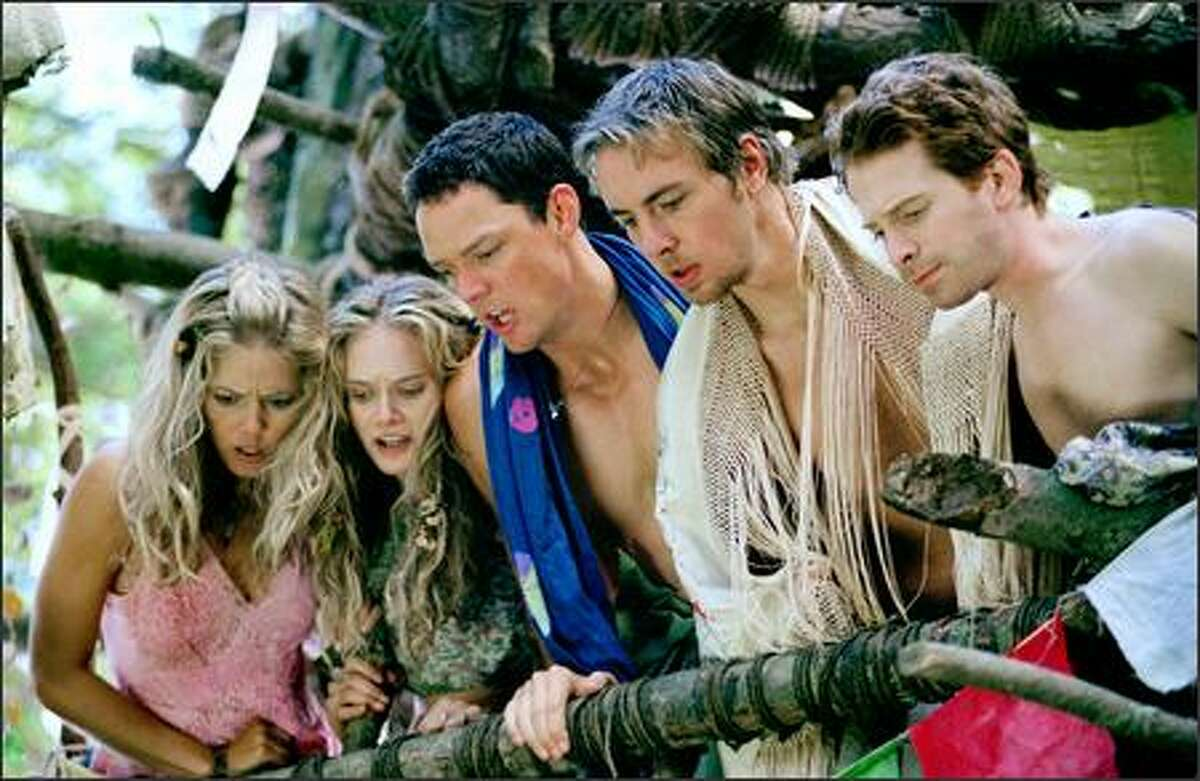 From left, Christina Moore as Butterfly, Rachel Blanchard as Flower, Matthew Lillard as Jerry, Dax Shepard as Tom and Seth Green as Dan. Green is probably the most recognizable of these actors, having had a recurring role on TV's