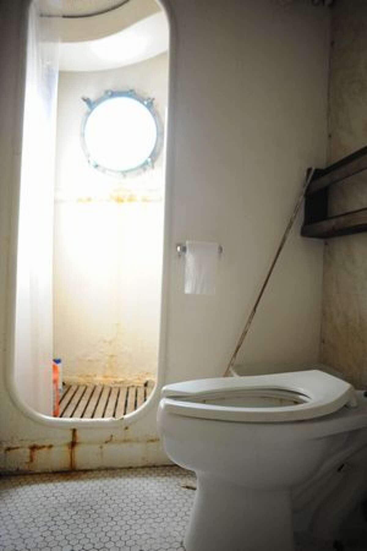 The crew bathroom.