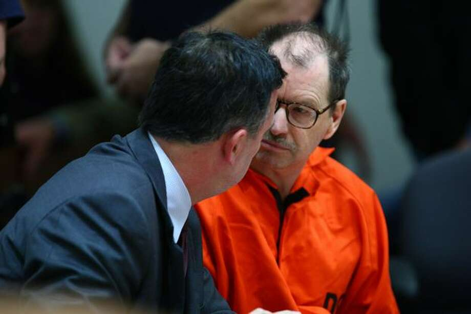 "Gary Leon Ridgway, also known as the Green River Killer, in the courtroom of Judge Mary E. Roberts. He pleaded guilty to a 49th killing, the 1982 slaying of Rebecca ""Becky"" Marrero. Photo: Joshua Trujillo, Seattlepi.com"