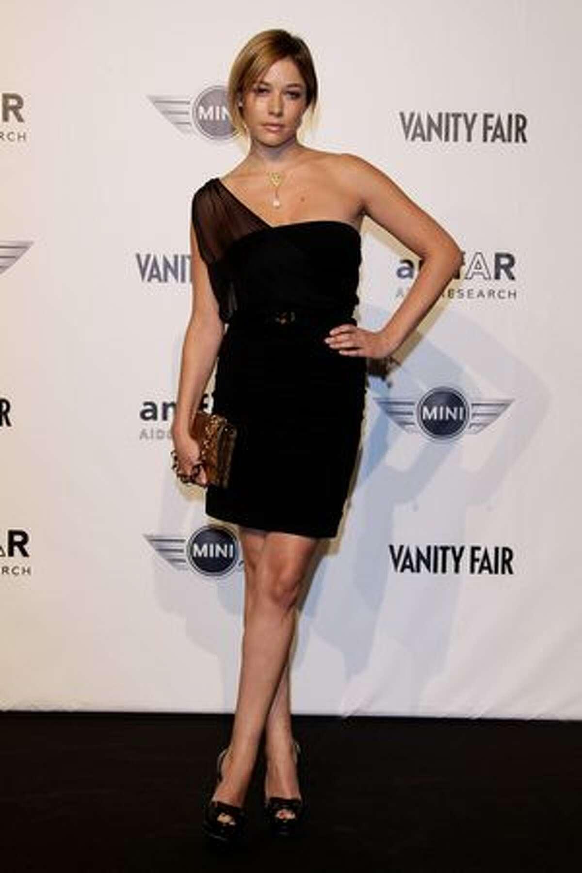 Sara Felberbaum attends amfAR Milano 2010 Red Carpet during Milan Fashion Week Womenswear Spring/Summer 2011 in Milan, Italy.