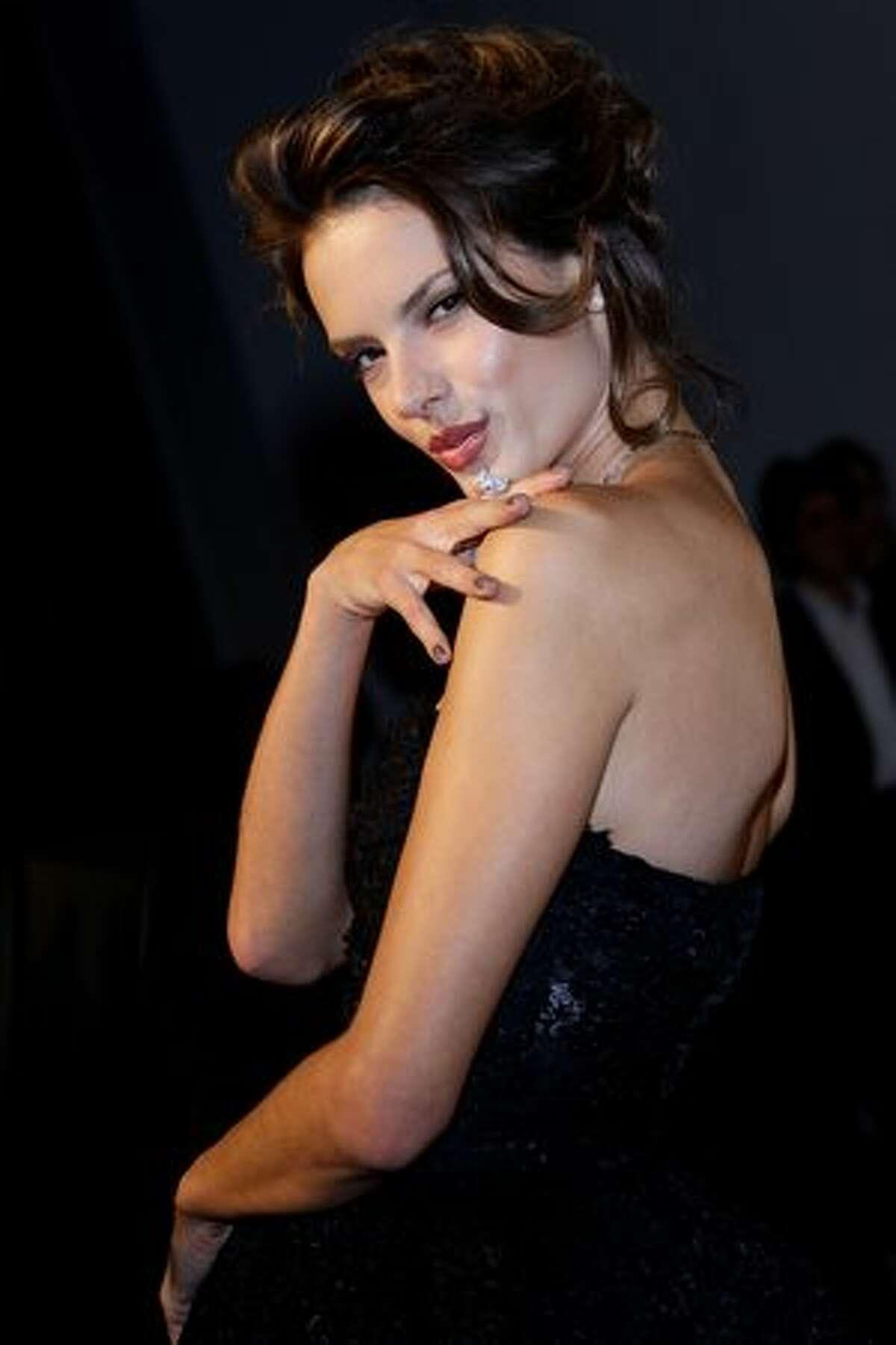 Camila Raznovich attends amfAR Milano 2010 Red Carpet during Milan Fashion Week Womenswear Spring/Summer 2011 in Milan, Italy.