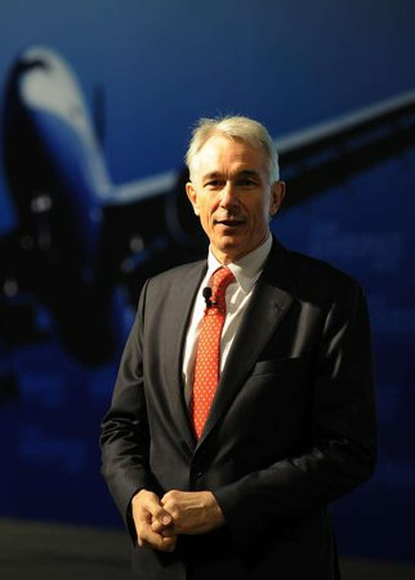 Tony Tyler, chief executive of Cathay Pacific, speaks at a seminar on the sidelines of the Asian Aerospace exhibition in Hong Kong.