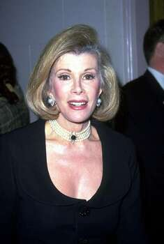 Joan Rivers is very vocal about her many plastic surgeries. (Photo by Newsmakers/Getty) Photo: Getty Images