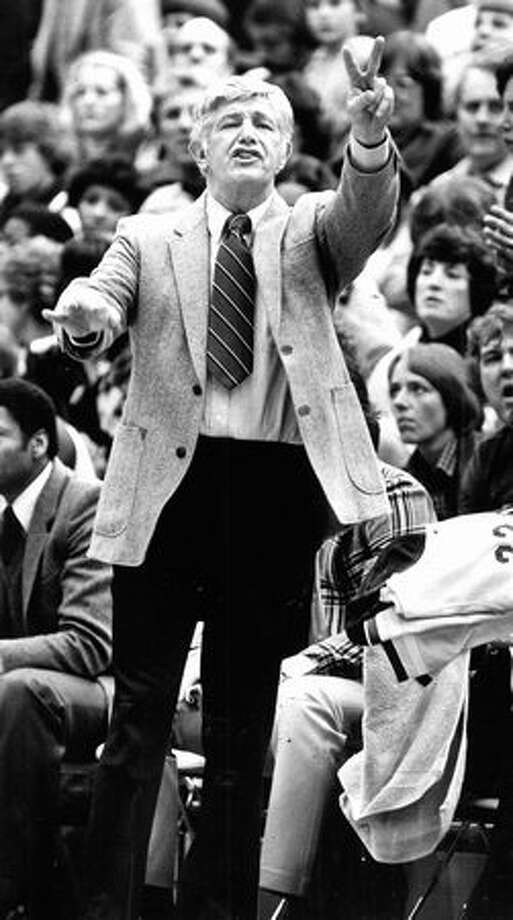 Harshman at a Husky game, January 1982. Photo: P-I File