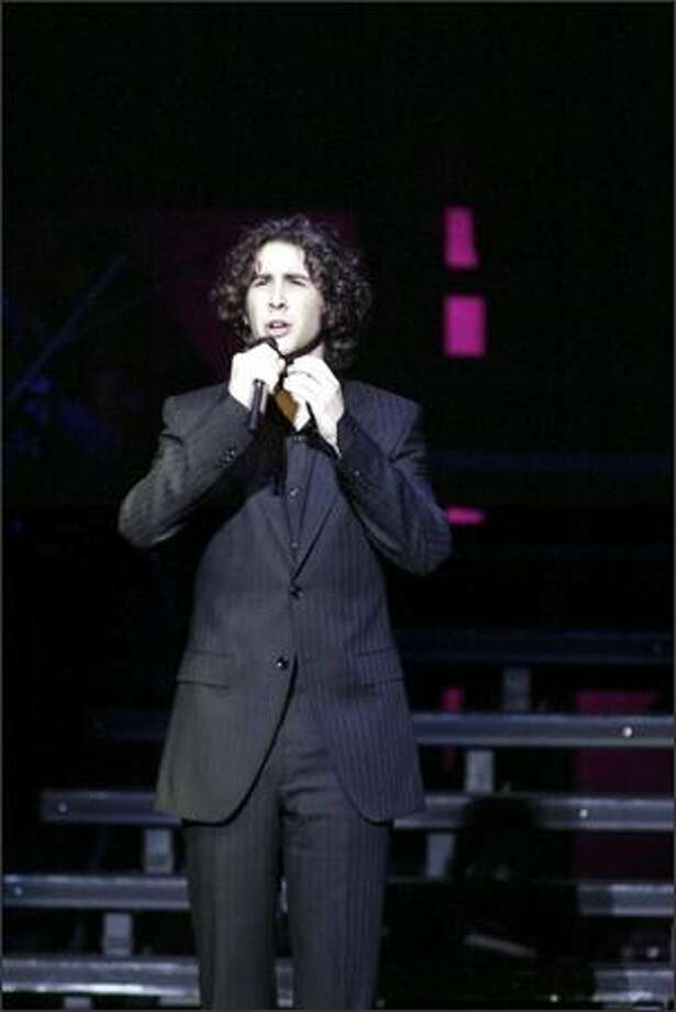 Pop singer Josh Groban sings to a sold out crowd at the Paramount Saturday night in Seattle. It only took 30 minutes to sell out all 130,000 seats in his first-ever 40-city nationwide tour. Photo: Jim Bryant, Seattle Post-Intelligencer
