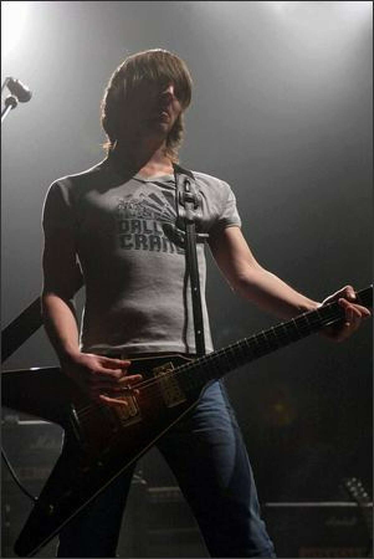Cameron Muncey, one of two guitarists in the Australian band Jet.