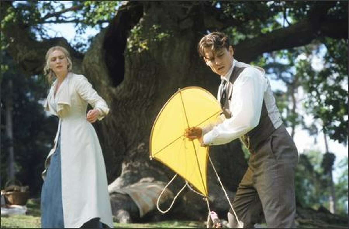 After a chance encounter in the park, J.M. Barrie (Johnny Depp) befriends newly widowed Sylvia Llewelyn Davies (Kate Winslet) and her sons, winning them over with his imagination and playfulness, uncharacteristic for a gentleman of his day.