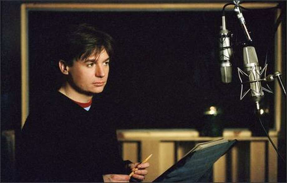 "Mike Myers is the voice of Shrek, who faces his greatest challenge of all -- meeting the parents -- in DreamWorks Pictures' computer-animated comedy ""Shrek 2."" Photo: Dreamworks"