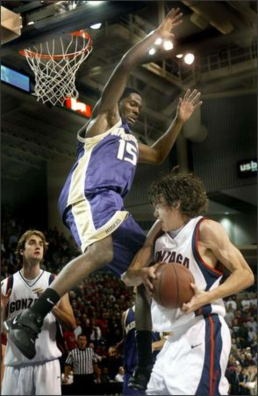 Bobby Jones' defense couldn't shut down Gonzaga's leading scorer Adam Morrison as he torched the Huskies for 26 points.