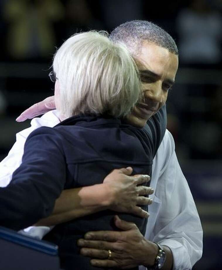 President Barack Obama campaigns for Senator Patty Murray at the University of Washington on Thursday. Photo: Scott Eklund, Red Box Pictures