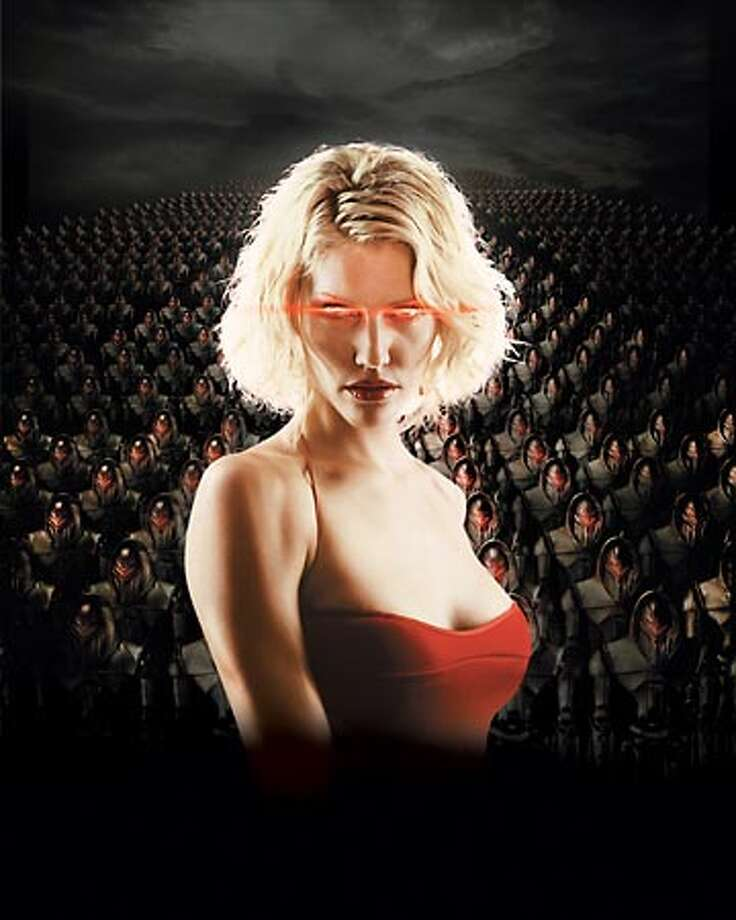 "The new series also featured Cylons that looked human. It and the prequel ""Caprica"" delved into the Cylons' origins and motivations. Photo: Sci-Fi Channel"