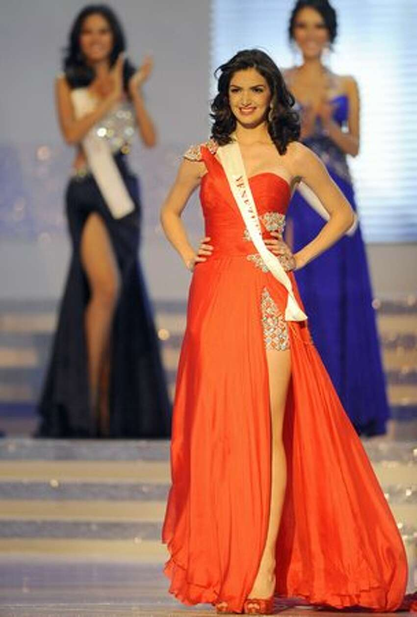 Miss Venezuela Adriana Vasini competes during the pageant. She placed third.
