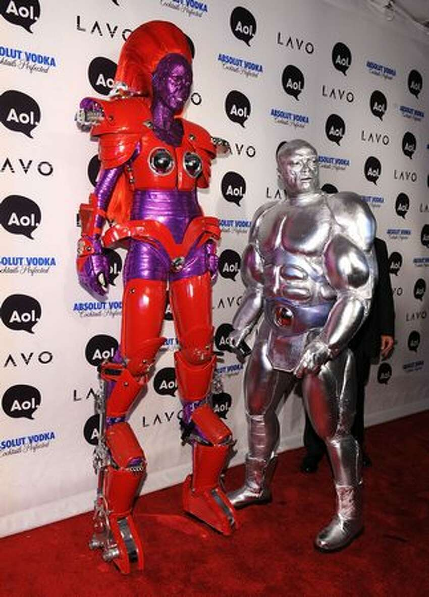Heidi Klum and Seal attend Heidi Klum's 2010 Halloween Party at Lavo in New York City.