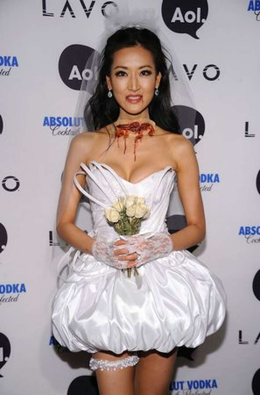 TV personality Kelly Choi attends Heidi Klum's 2010 Halloween Party at Lavo in New York City.