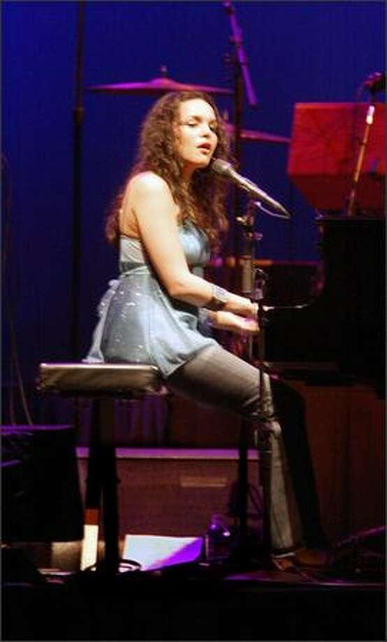 Multi-Grammy Award-winning recording artist Norah Jones performs at KeyArena Tuesday night. Photo: Scott Eklund, Seattle Post-Intelligencer