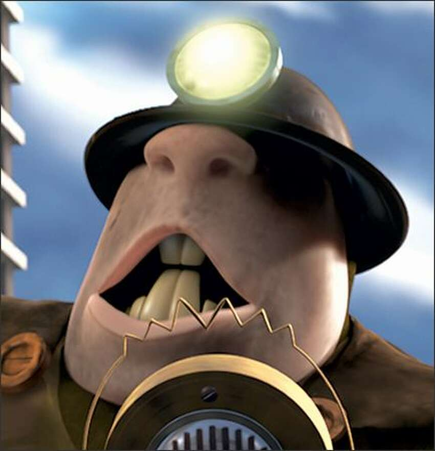 The Underminer (voice of John Ratzenberger) is a newly emerging super-villain determined to declare war on peace and happiness.