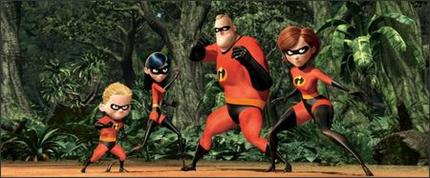 The family that fights super-villainy together: (left to right) super-speedy Dashiell