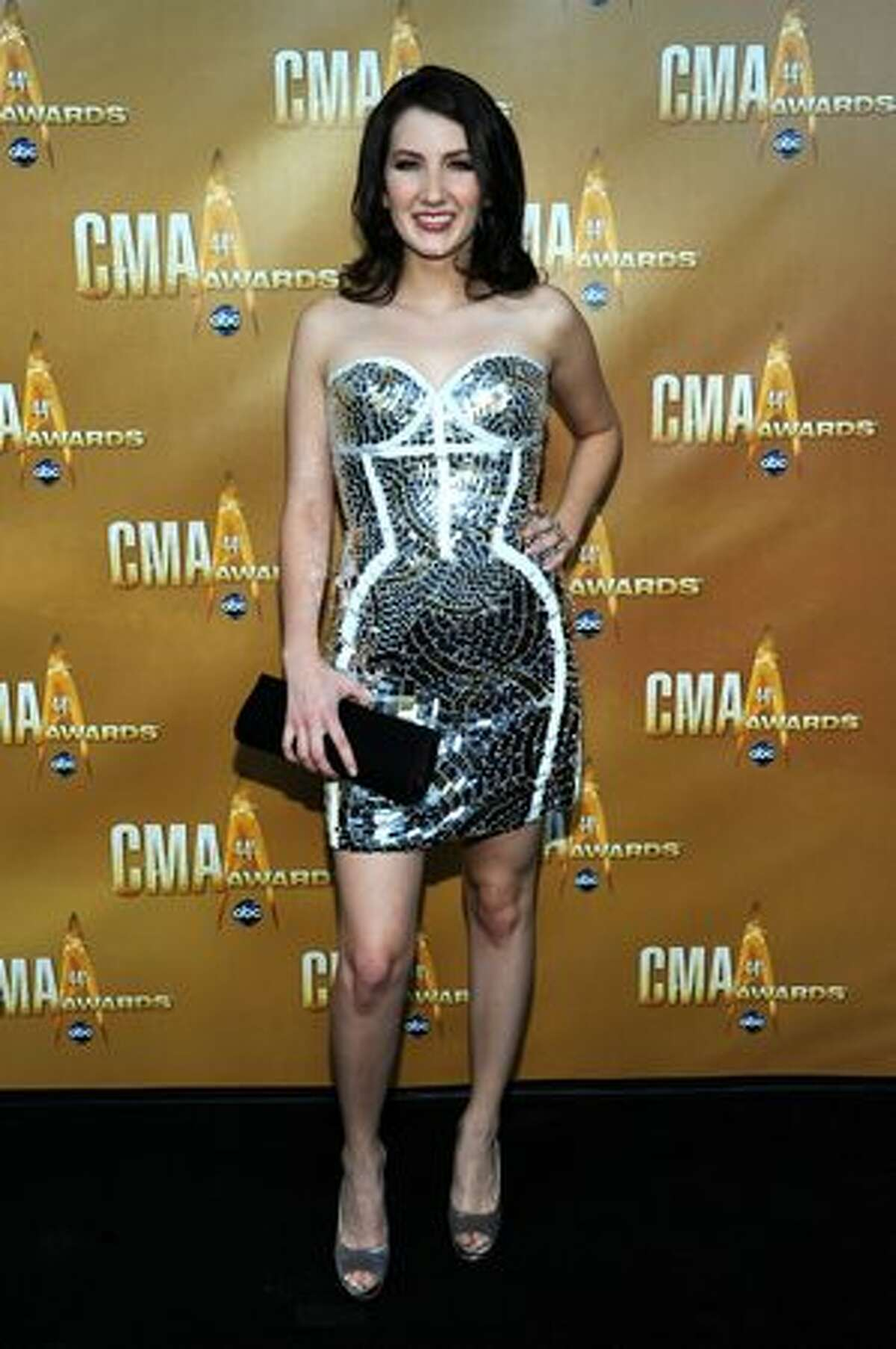 Singer Katie Armiger attends the 44th Annual CMA Awards at the Bridgestone Arena on November 10, 2010 in Nashville, Tennessee.