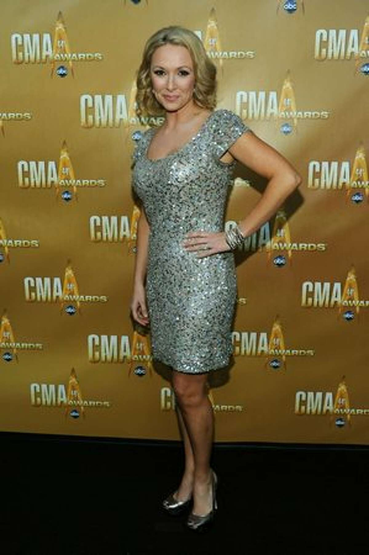 Katie Cook attends the 44th Annual CMA Awards at the Bridgestone Arena on Wednesday in Nashville, Tennessee.