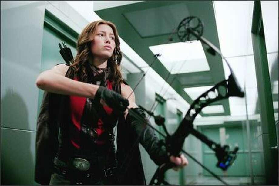 Jessica Biel stars as vampire hunter Abigail Whistler. Photo: New Line Cinema