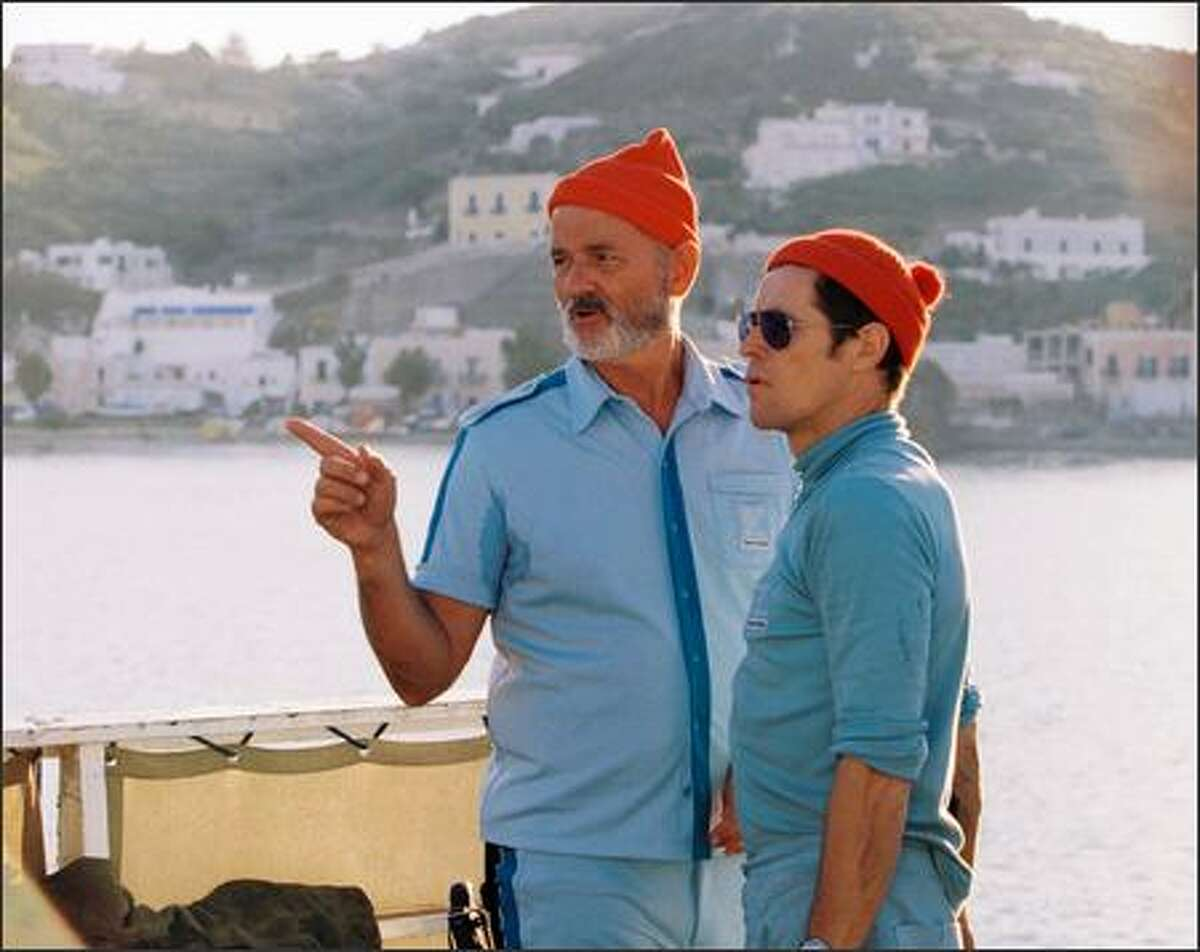 Klaus' (Willem Dafoe) close bond with Zissou (Bill Murray) is threatened by the emergence of Ned (Owen Wilson).