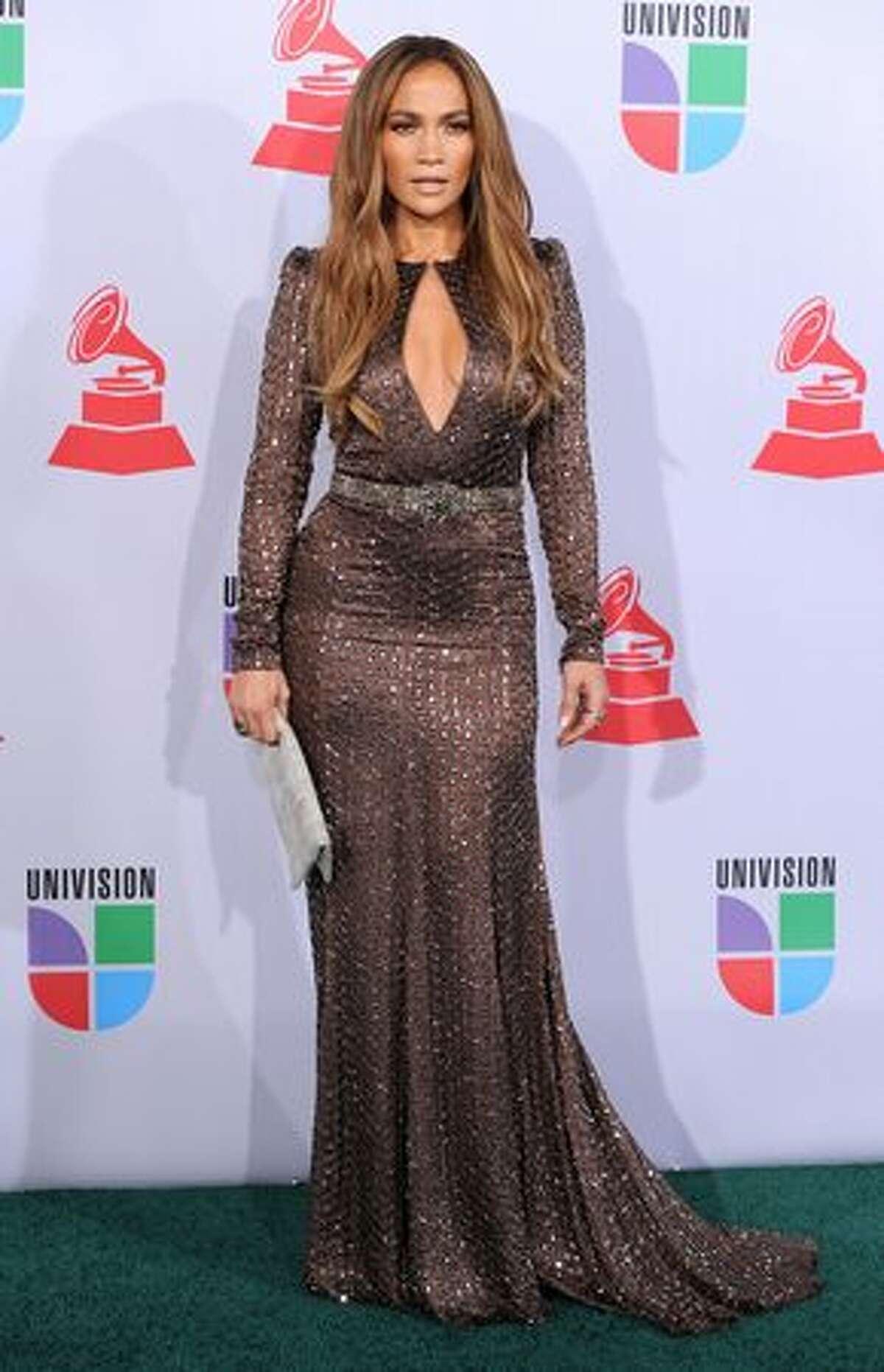 Actress Jennifer Lopez arrives at the 11th annual Latin GRAMMY Awards at the Mandalay Bay Resort & Casino in Las Vegas, Nevada.