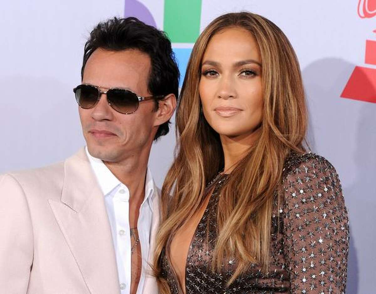 Singer Marc Anthony and actress Jennifer Lopez arrive at the 11th annual Latin GRAMMY Awards at the Mandalay Bay Resort & Casino in Las Vegas, Nevada.
