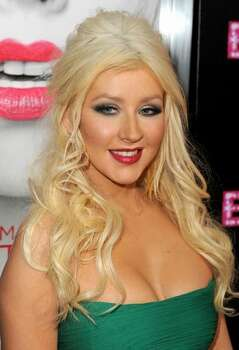 Actress Christina Aguilera arrives. Photo: Getty Images