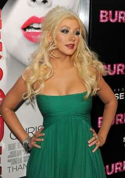 Actress/singer Christina Aguilera arrives. Photo: Getty Images