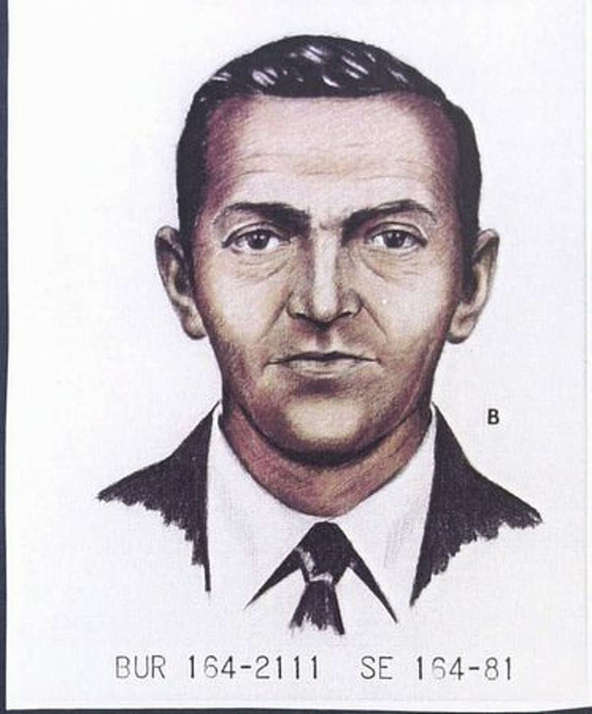 A 1981 FBI artist's rendition shows D.B. Cooper as he looked in 1971. (FBI photo/provided by seattlepi.com file)