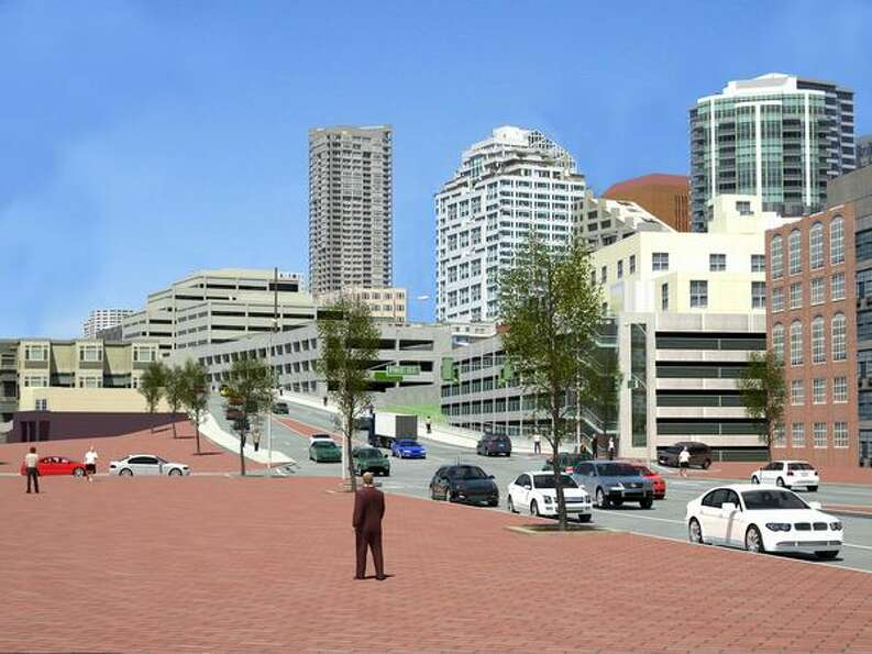 Future: View to the north from Union Street (Waterfront Park). (Photo provided by WSDOT)