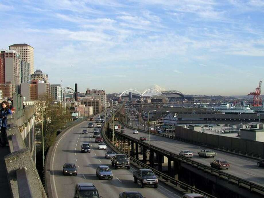 Now: View to the south from Victor Steinbrueck Park. (Photo provided by WSDOT)