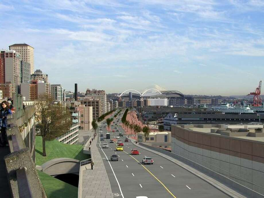 Future: View to the south from Victor Steinbrueck Park. (Photo provided by WSDOT)