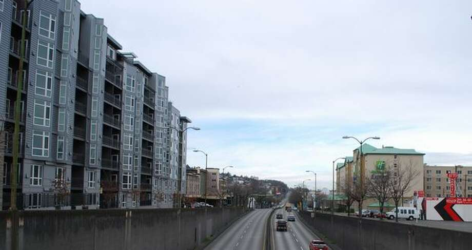 Now: View to the north up Aurora Avenue (Highway 99) from Denny Way. (Photo provided by WSDOT)