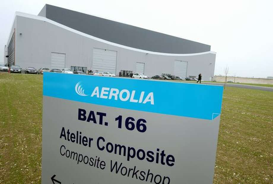 Aerolia's Meaulte, France factory, is shown as the company inaugurates a composite unit that will make the nose fuselage for the Airbus A350 XWB. Photo: Getty Images