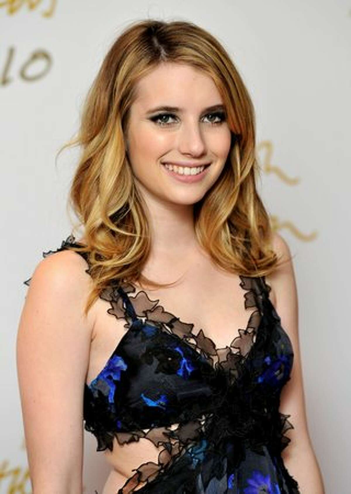 Actress Emma Roberts attends the British Fashion Awards at The Savoy in London, England.