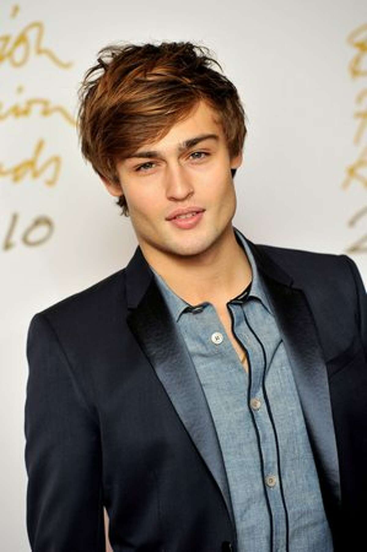Model Douglas Booth attends the British Fashion Awards at The Savoy in London, England.