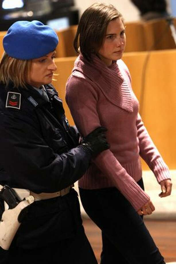 Amanda Knox arrives in Perugia's court of appeal. Photo: Getty Images