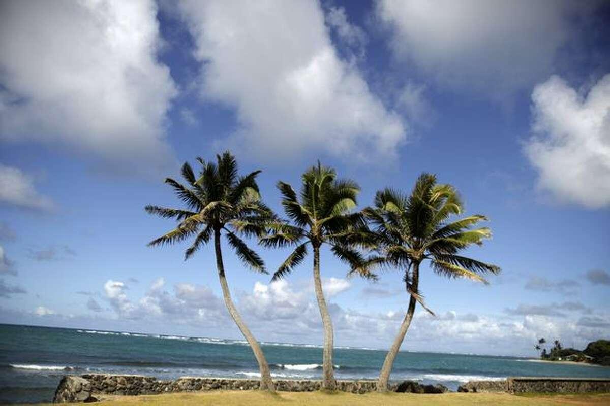 View of Kualoa beach on the island of Oahu on June 17.