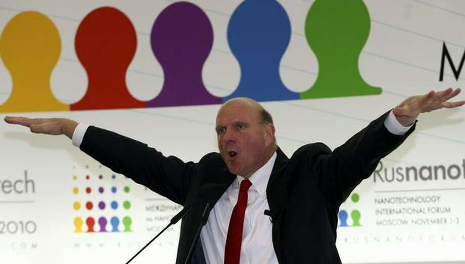 Ballmer speaks at the Rusnanotech Forum in Moscow on November 1, 2010. Photo: Getty Images