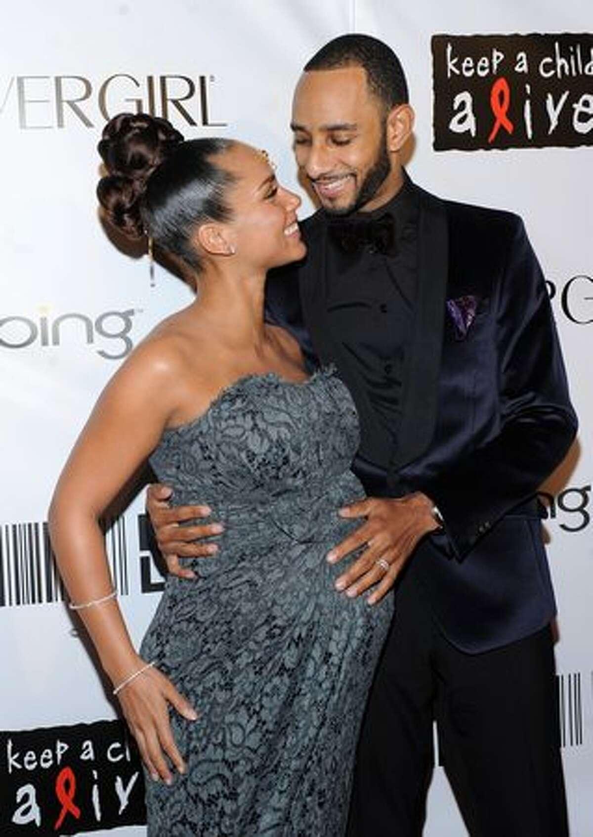 Alicia Keys and Kaseem 'Swizz Beatz' Dean: Kid's name: Egypt Daoud